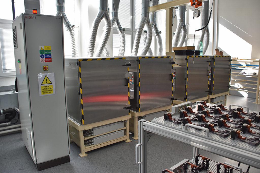 Testování LED světel - celkový pohled